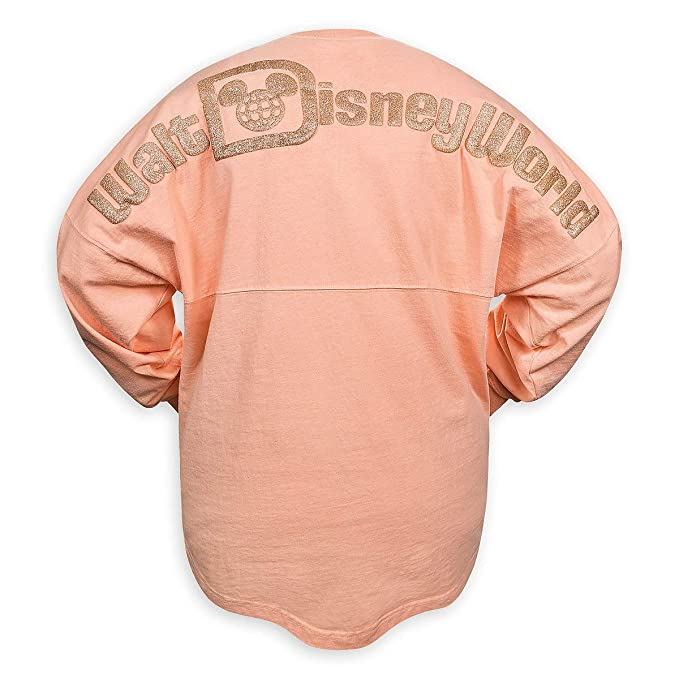 4918a1466e8 Disney Parks Womens Long Sleeve Spirit Jersey in Rose Gold at Amazon  Women's Clothing store:
