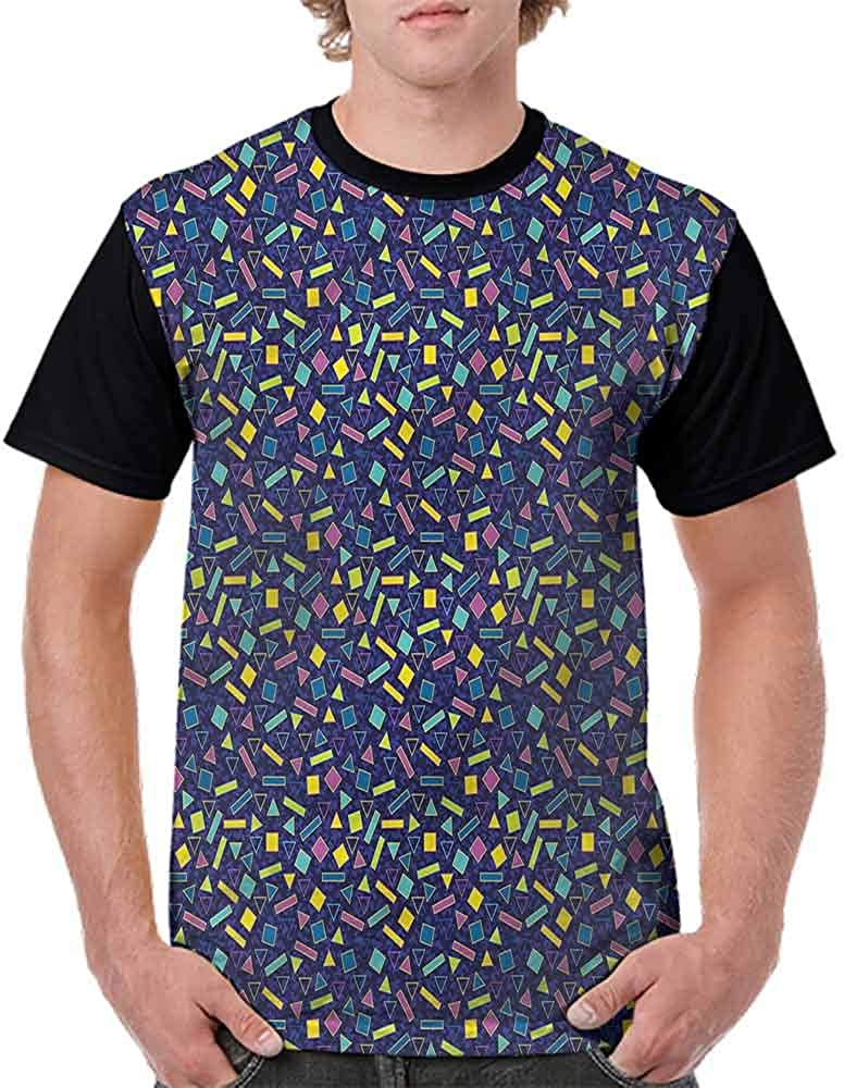 BlountDecor Printed T-Shirt,Surreal Vibrant Theme Fashion Personality Customization