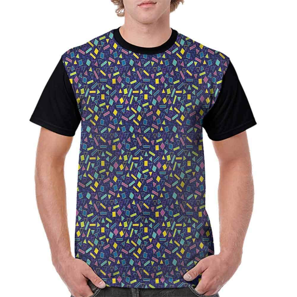 BlountDecor Cotton T-Shirt,Surreal Vibrant Theme Fashion Personality Customization
