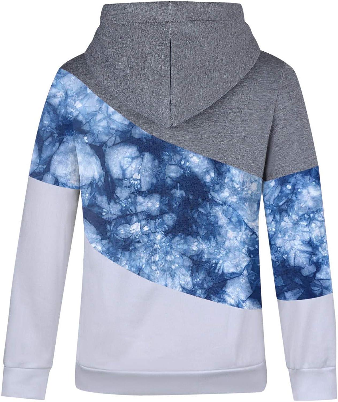 HUYURI Damen Kapuzenpullover Lang Hoodie, Sweatshirt Frauen Stehkragen Pullover mit Kapuze Herbst Winter Mantel Slim Fit Hoody Casual Pulli High Neck Outwear 16-blau