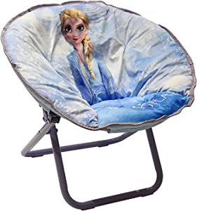"""Idea Nuova Disney Frozen 2 Toddler 19"""" Folding Saucer Chair with Cushion, Ages 3+"""
