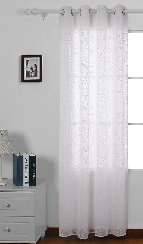 Cortina transparente 1 panel
