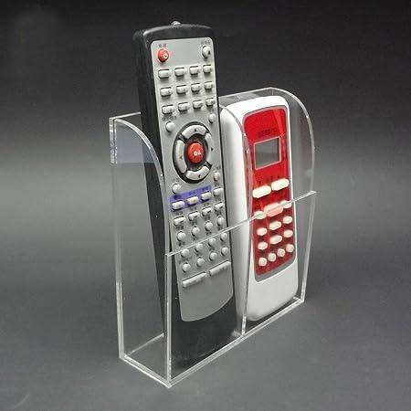 oriskey 2 Grids Transparente Acrílico TV Aire acondicionado mando a distancia soporte de pared soporte organizador caja de almacenamiento: Amazon.es: Hogar