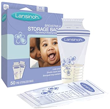 Amazon.com : Breast Milk Storage Bags By Lansinoh - 50 Ea : Baby