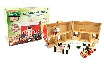 Globo Toys Globo 37443 Legnoland - Caseta con asa (16 piezas): Amazon.es: Juguetes y juegos
