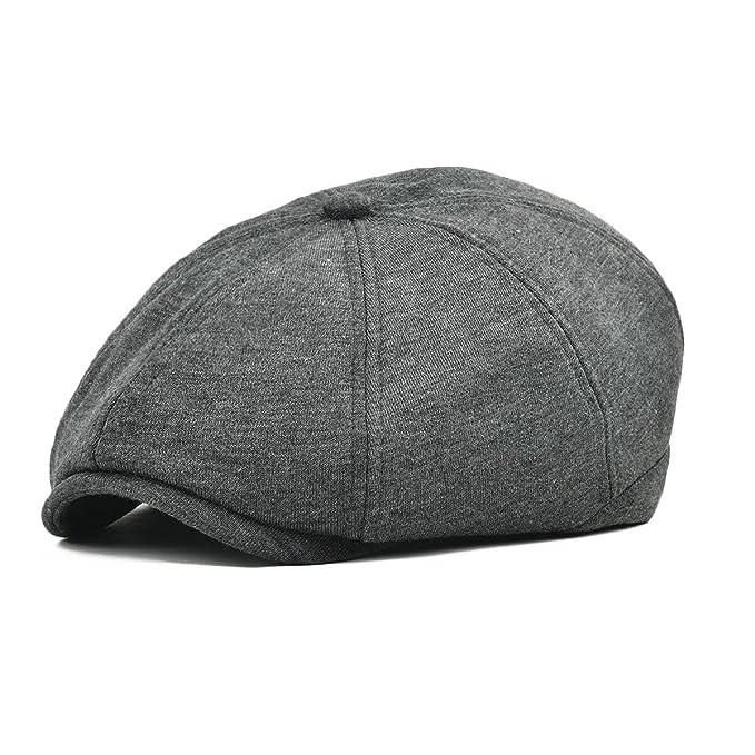 Mens Cotton Flat Ivy Gatsby Newsboy Driving Hat Cap