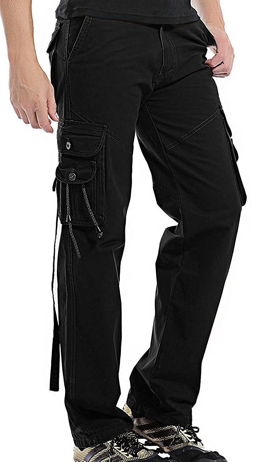 Fashion Style Handsome Mens Wild Cargo Pants 10 Pockets Work Pants