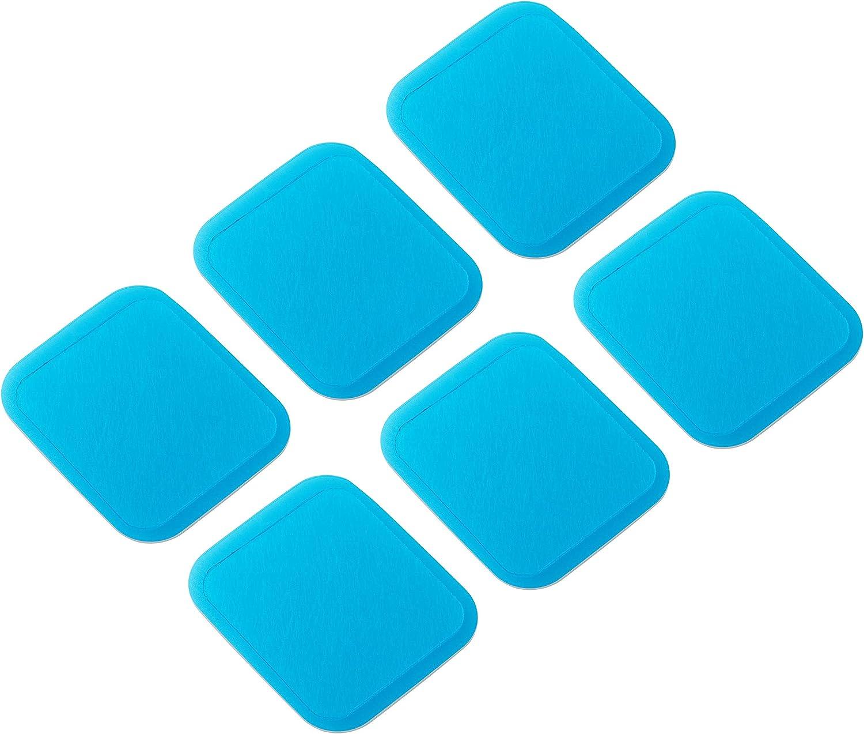 Set recambio Beurer EM 50. Pack 6 electrodos de gel autoadhesivos