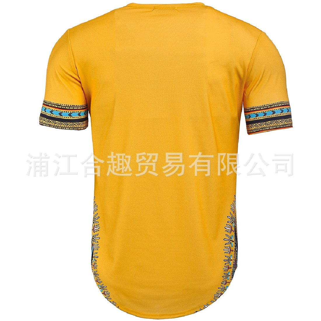 Tingwin Mens African Dashiki Short Sleeve Summer Loose Fit Top Shirt