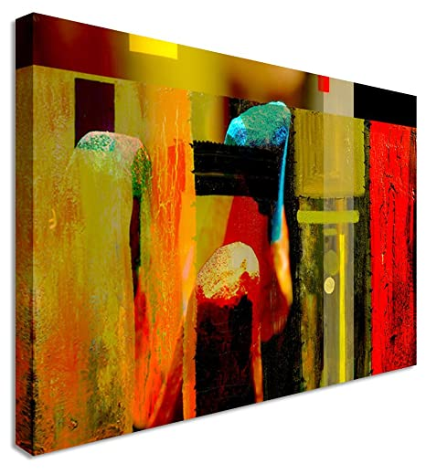 Large Abstract Painting Maze Canvas Wall Art Pictures 40x30 inches ...
