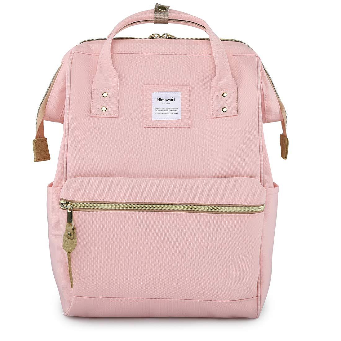 Himawari Travel Backpack Laptop Backpack Large Diaper Bag Doctor Bag Backpack School Backpack for Women&Men (H900d-L USB Pink) by himawari