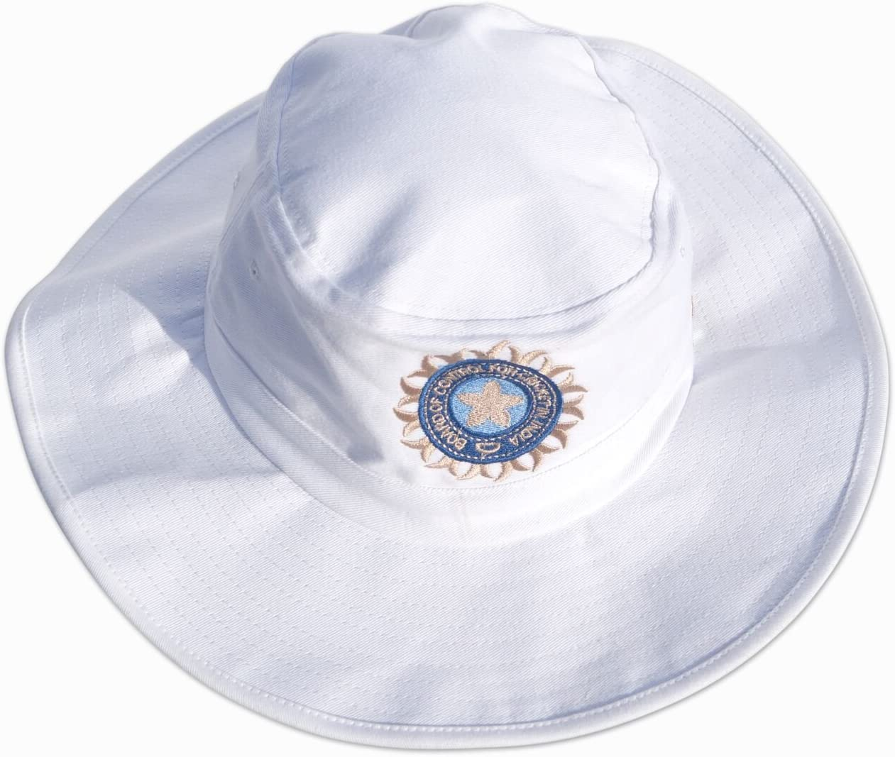 CRICKET SUNHAT WITH INDIA LOGO//INDIA FLAG ON SIDE MENS LARGE//XL 59-60CM