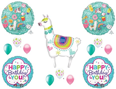 Llama Selfie Celebration Birthday Party Balloons Decoration Supplies