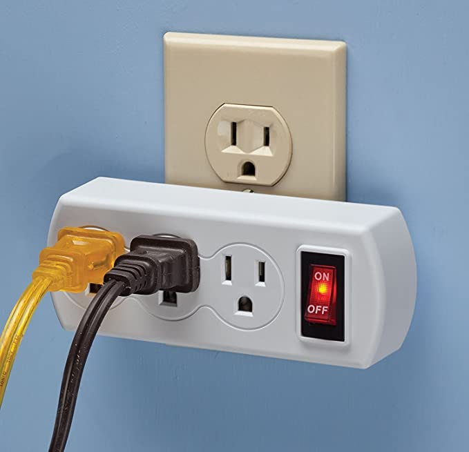 WalterDrake 3 Plug Outlet Switch - - Amazon.com