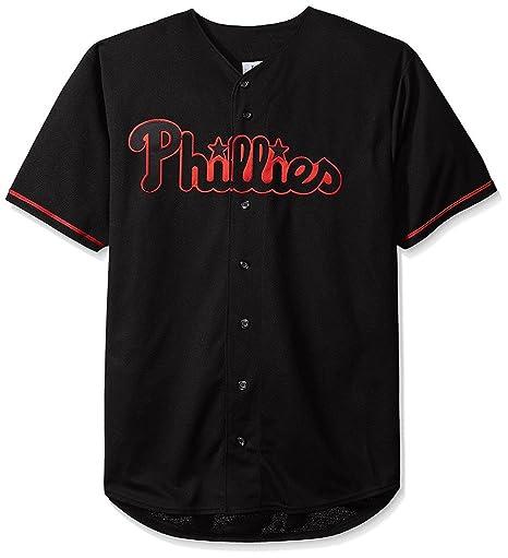 f3c45f72e4e VF Philadelphia Phillies MLB Mens Majestic Black Fashion Jersey Big Sizes ( XLT)