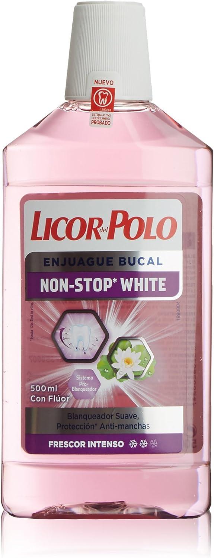 Licor del Polo Enjuague bucal Non-Stop White - 500 ml: Amazon.es ...