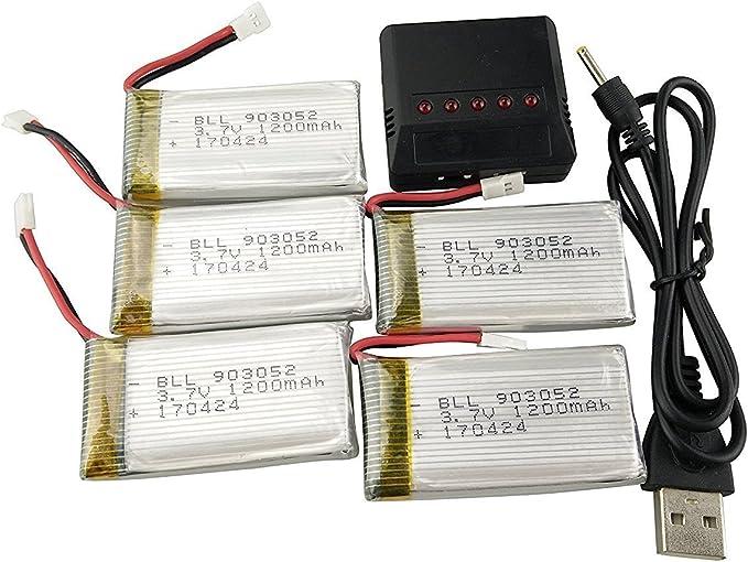 Styleart 3.7 V 800 Mah Lipo Batterie 902540 pour Syma X5sc X5hc X5hw X5uw Rc Quadrirotor Drone Pi/èCe De Rechange 3.7 V Batterie JST