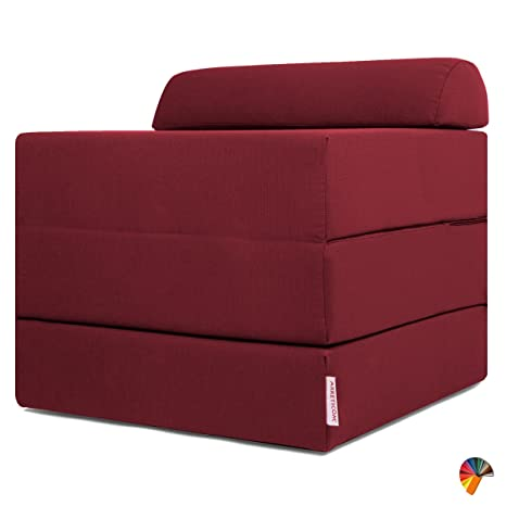 Pouf Letto Con Rete A Doghe.Arketicom Sleeping Cube Pouf Letto Design Pieghevole Sfoderabile