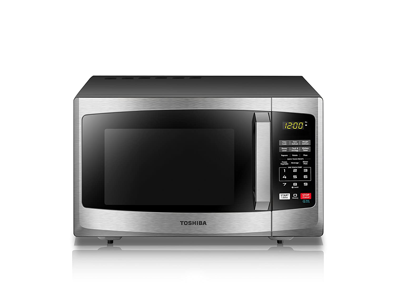 Toshiba EM925A5A-SS Microwave Oven with Sound On Off ECO Mode and LED Lighting 0.9 cu. ft. Stainless Steel