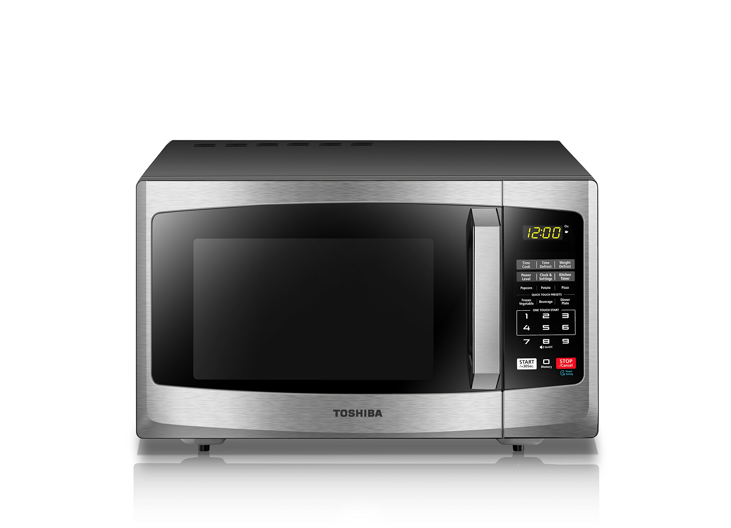 Toshiba EM925A5A-SS Microwave Oven with Sound On/Off ECO Mode and LED Lighting 0.9 cu. ft. Stainless Steel by Toshiba (Image #2)