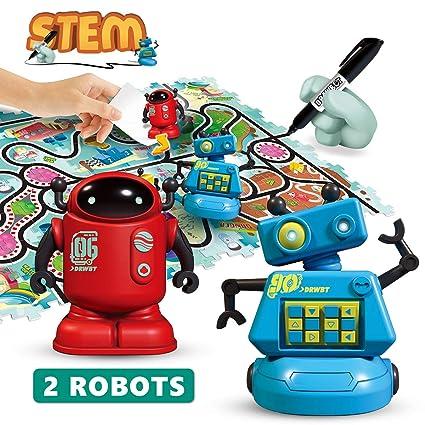 Amazon.com: REMOKING STEM - Juguetes de robot inductivo ...