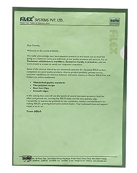 Solo tamaño hojas pantalla de plástico azul transparente (A4, paquete de 10 piezas, color verde: Amazon.es: Oficina y papelería