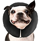 ZenPet Protective Inflatable Recovery Collar for Dogs and Cats - Soft Pet Cone Does Not Block Vision E-Collar - Designed to P