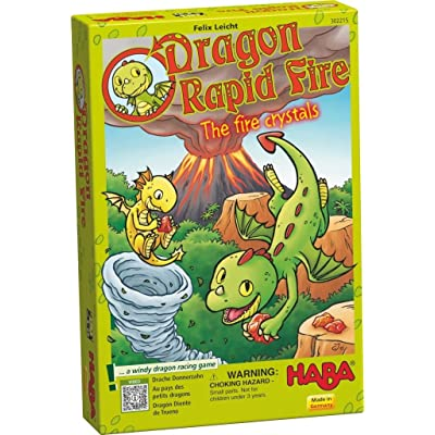 HABA Dragon Rapid Fire Game - A Fast Paced Dice Race Game for Ages 3 and Up (Made in Germany): Toys & Games