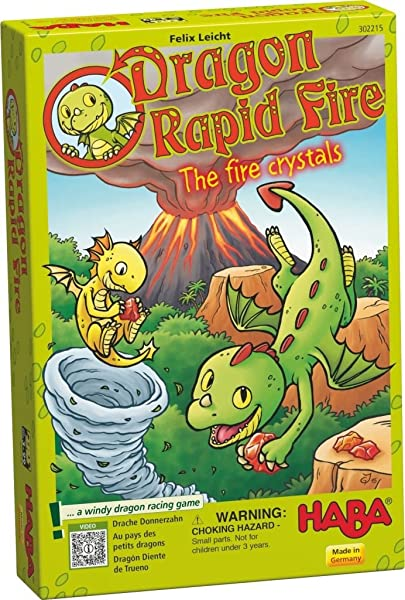 HABA Dragon Rapid Fire Quartets Made in Germany 303592 A Classic Card Game with Fire Crystals for Ages 4+