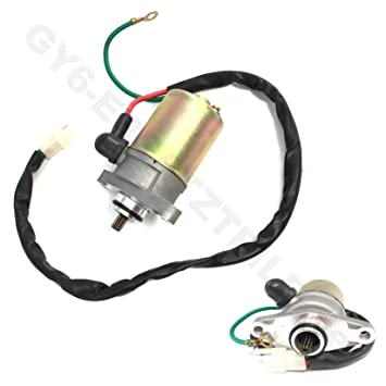starter engine motor with 2 pin plug gy6 chinese scooter moped atv 50- 80cc  4
