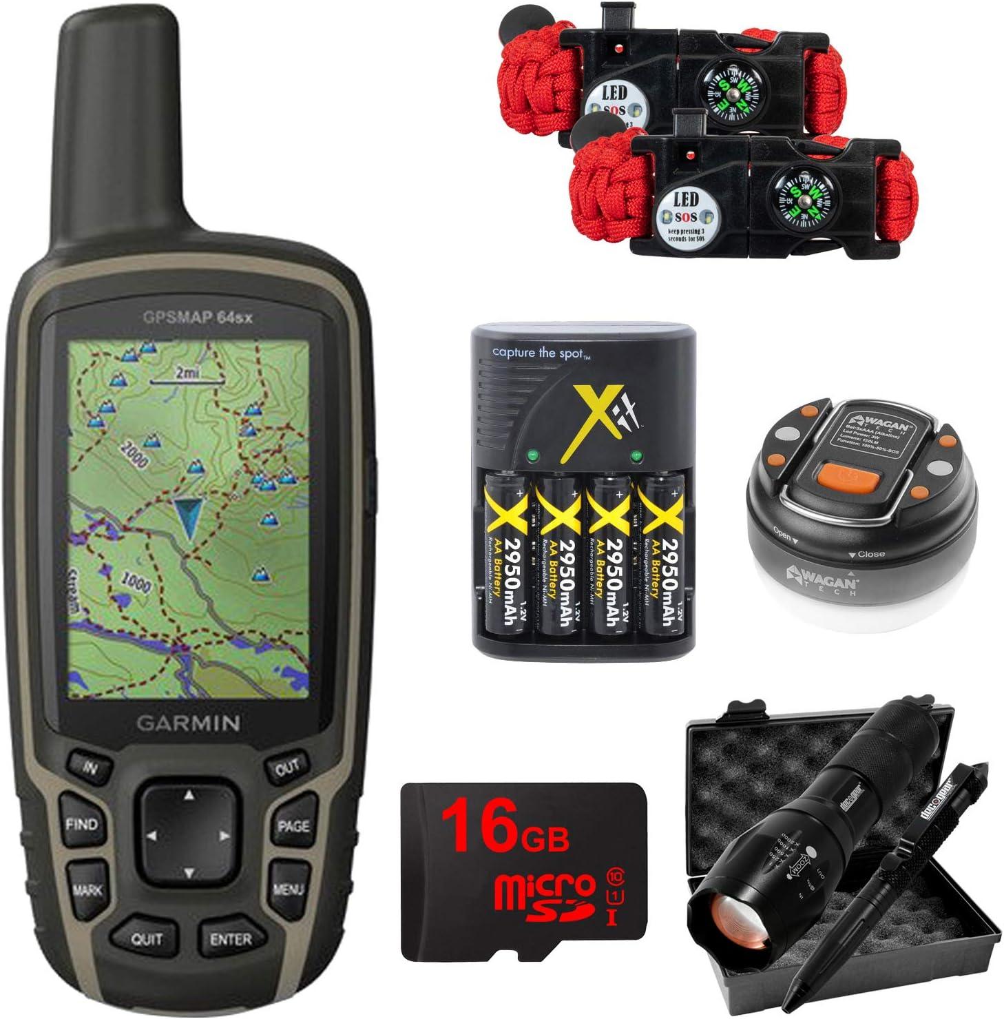 Garmin GPSMAP 64sx Handheld GPS with 16GB Camping & Hiking ...