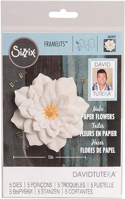Sizzix Framelits Dies Large Lily 5 Dies 562397 By David Tutera New