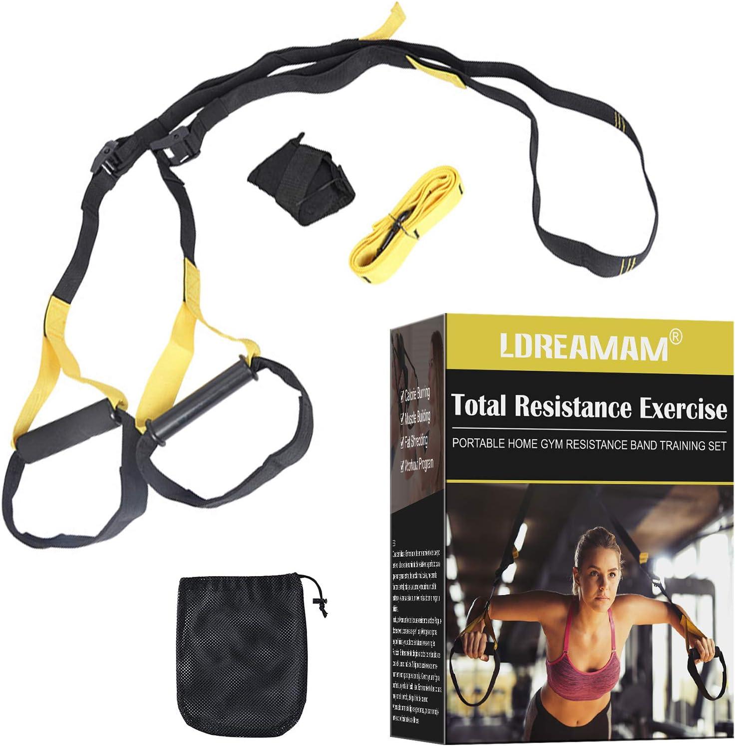 per allenamento a sospensione Sling Trainer allenamento completo del corpo e sistema di resistenza per uomini e donne set di allenamento in sospensione