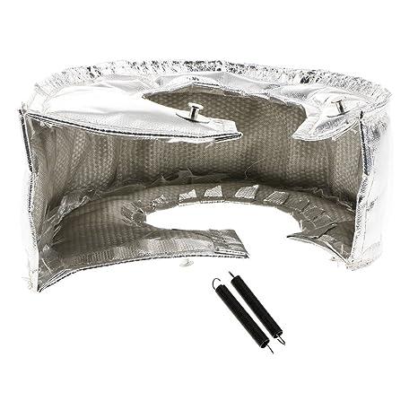 Amazon.com: Dolity Easy Install Safety T4 Titanium Turbo Heat Shield Turbocharger Cover - silver: Automotive