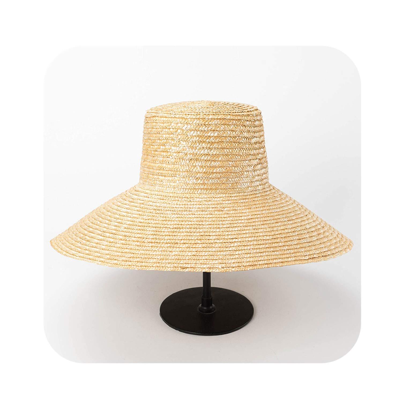 4 Wide Brim Hat Straw Sun Hat UV Predection Women's Beach Bucket Hat,