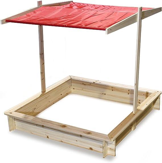 Elevación del techo del cajón de arena Protección UV del techo ...