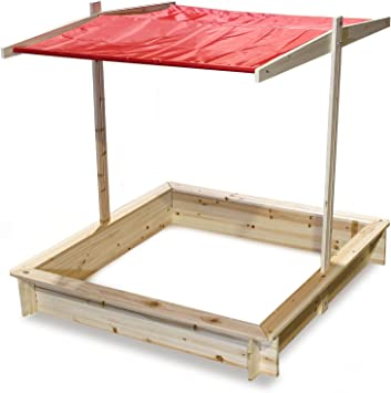 Elevación del techo del cajón de arena Protección UV del techo abatible: Amazon.es: Jardín