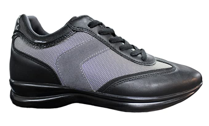 Zapatillas deportivas hombre negro Casual Deporte Man s Shoes nero, grigio 43
