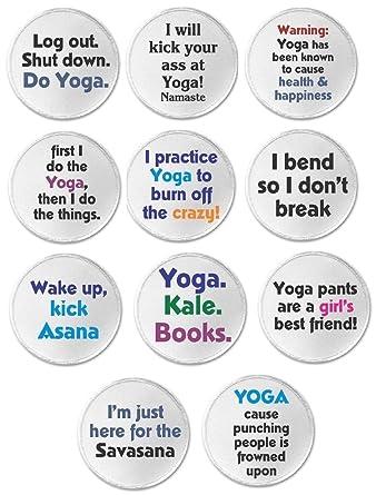 Amazon.com: Juego 11 Yoga Namaste salud felicidad temática ...