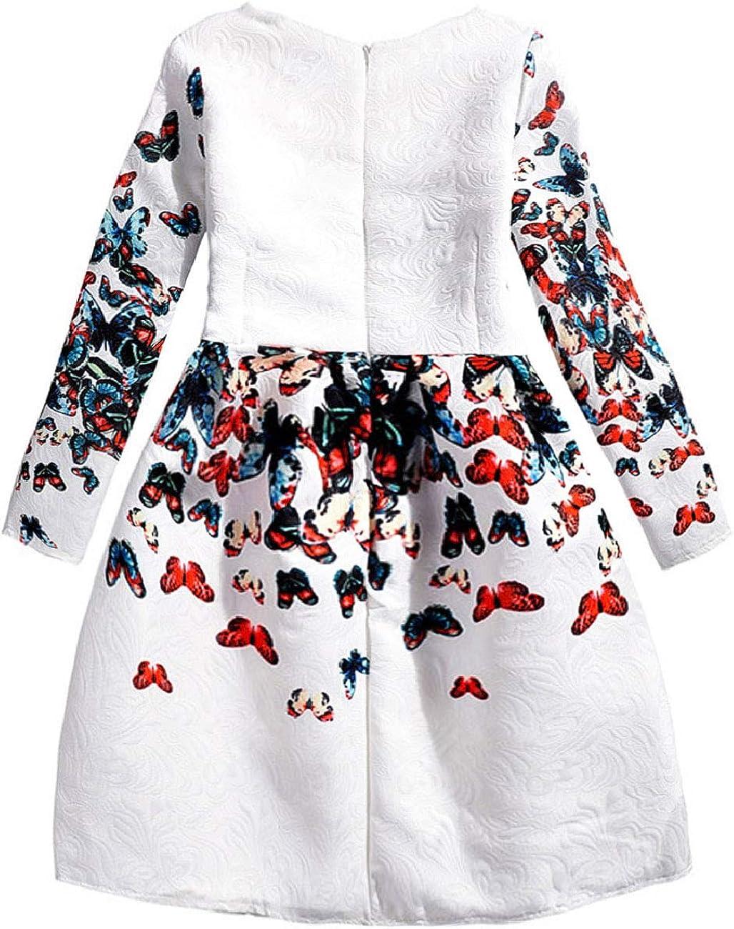 21KIDS Creative Art Colorful Print Summer Girls Casual Dress Size 6-12