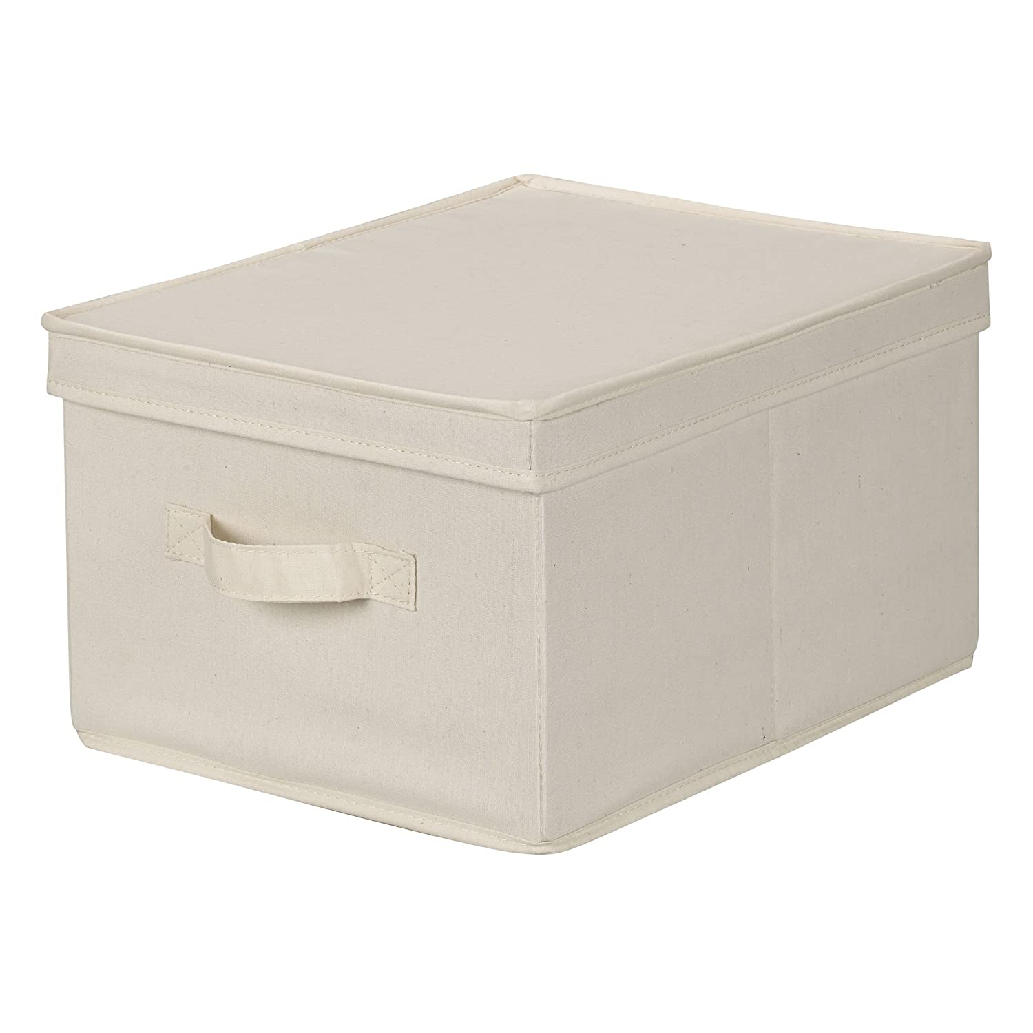 Amazoncom Household Essentials 113 Storage Box with Lid and Handle