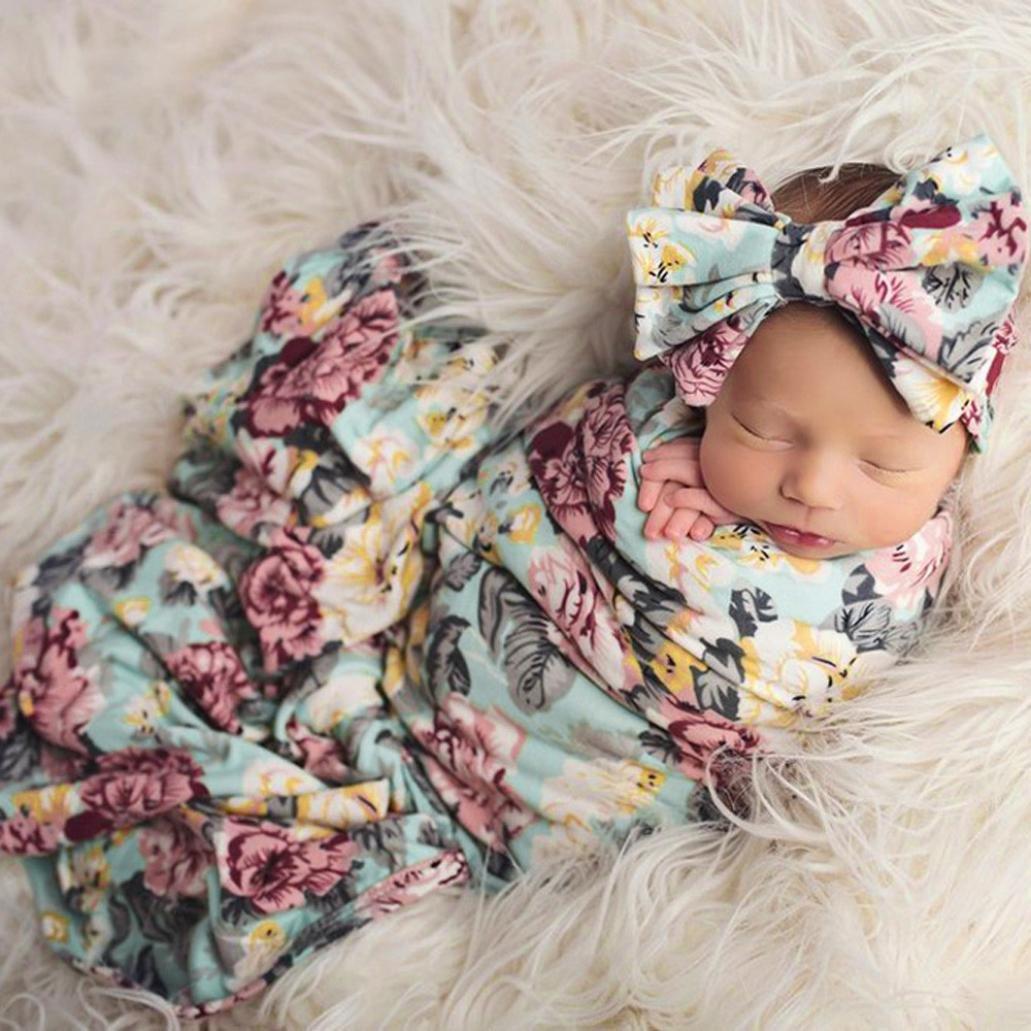 おくるみブランケット, makaorコットンモスリンBaby Swaddle Wrap For Baby Boys Girls Sleeping Size: 80cmx 80cm / 31.5