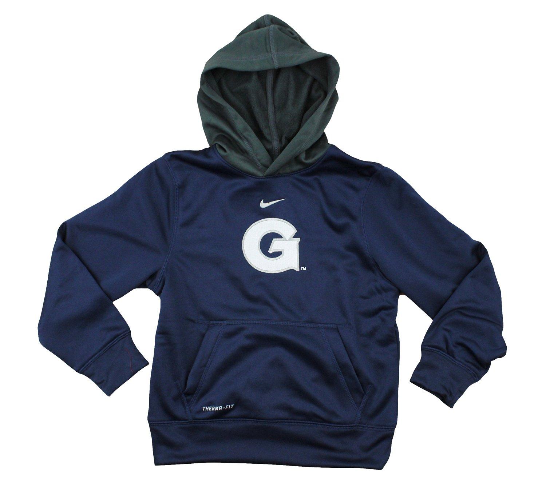 1dceda7b Amazon.com : Nike NCAA Big Boys Youth Georgetown Hoyas ThermaFit Performace  Fleece Pullover Hoodie, Navy : Sports & Outdoors