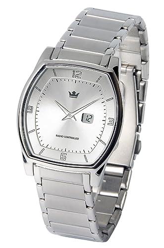 Reloj para hombre Marqués, tecnología de radiofrecuencia alemana, caja y pulsera de acero inoxidable 983.5105: Amazon.es: Relojes