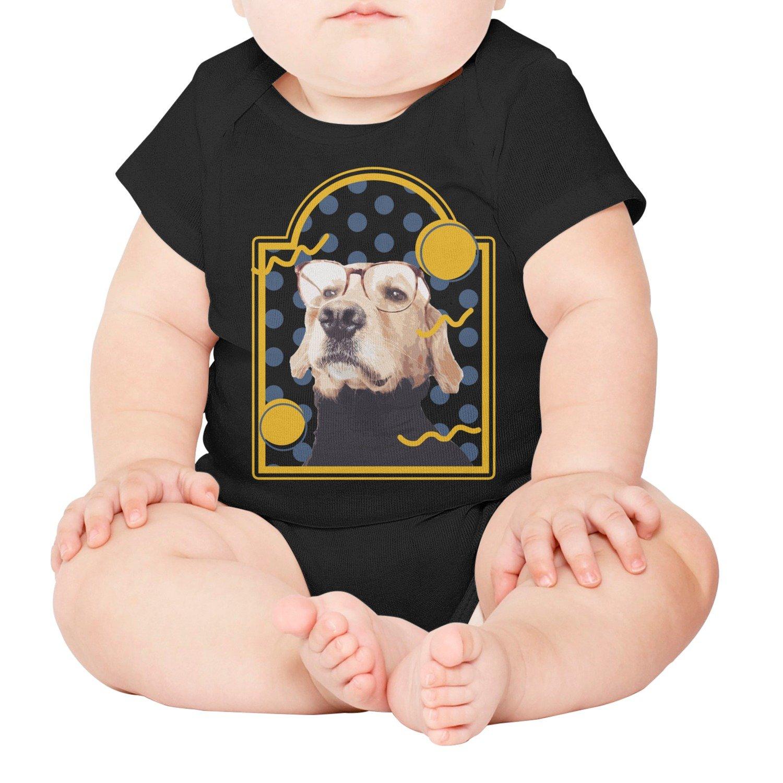 xs4tdg563kfu Happy Dog Glasses Baby Short-Sleeved Climbing Clothing Individuality