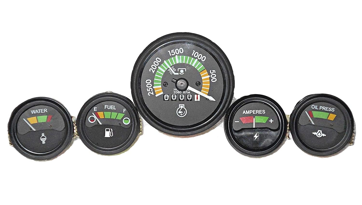 Temp+Oil+Fuel+Amp MF Massey Ferguson 265 285 Tractor Gauges Kit