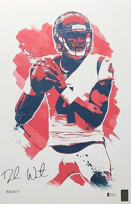 Deshaun Watson Autographed Signed Houston Texans 11X17 Art Print Signature  - Beckett Authentic 2377786d1