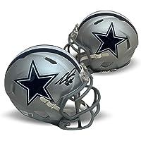 $159 » CeeDee Lamb Autographed Dallas Cowboys Signed NFL Football Speed Mini Helmet Fanatics Authentic COA