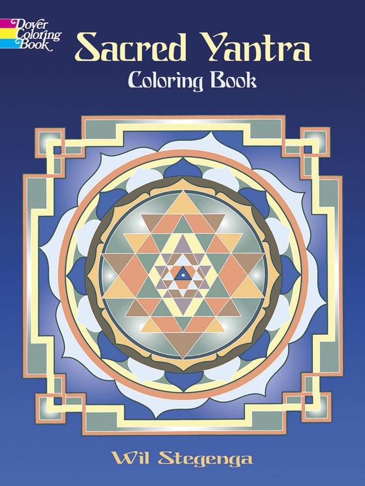 sacred yantra coloring book dover design coloring books