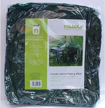 Funda cubre mesa+sillas jardin Tryun TY914 173X215X90 CM: Amazon.es: Bricolaje y herramientas